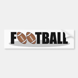Football bumper sticker car bumper sticker