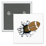 Football Burst T-shirts and Gifts Buttons