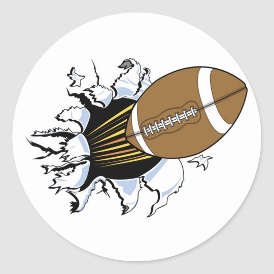 Football Burst T-shirts and Gifts Round Sticker