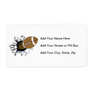Football Burst T-shirts and Gifts Shipping Label