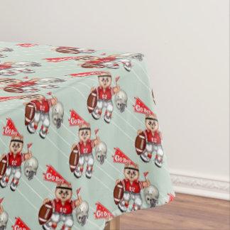 "FOOTBALL CAT BOY Tablecloth COLOR LIPS 52""x70"""