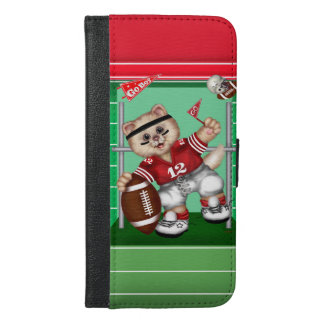 FOOTBALL CAT CUTE FUN iPhone 6/6s Plus Wallet Ca 3