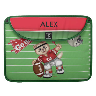 "FOOTBALL CAT CUTE Macbook Pro 15"" Sleeve For MacBook Pro"