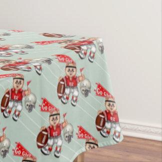 "FOOTBALL CAT GIRL Tablecloth COLOR LIPS 60""x84"""
