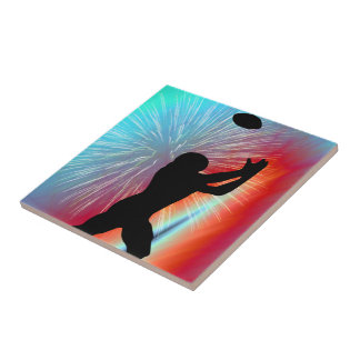 Football Catch in Rocket s Red Glare Tile