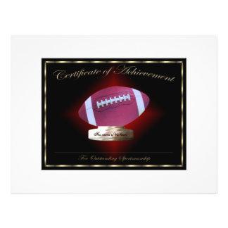 Football Certificate of Achievement 21.5 Cm X 28 Cm Flyer