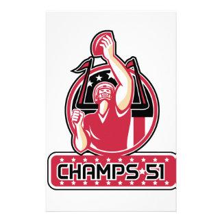 Football Champs 51 Atlanta Retro Stationery