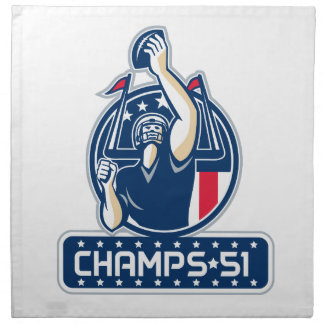 Football Champs 51 New England Retro Napkin