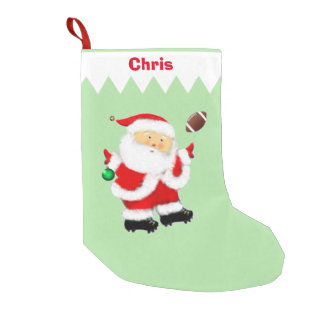 Football Christmas keepsake gift Small Christmas Stocking
