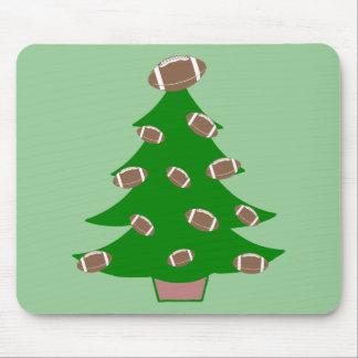 Football Christmas Tree Mousepad