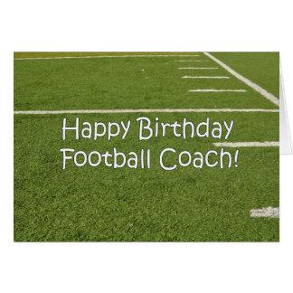Football Coach Happy Birthday on Playing Field Card