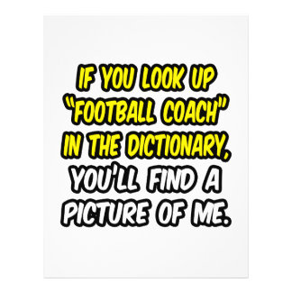Football Coach In Dictionary...My Picture Flyers