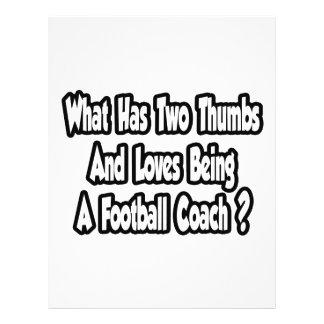 Football Coach Joke...Two Thumbs Flyer Design