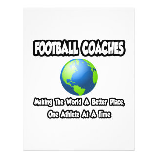 Football Coaches...Making the World a Better Place Flyer Design
