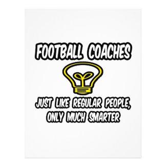 Football Coaches...Regular People, Only Smarter Custom Flyer