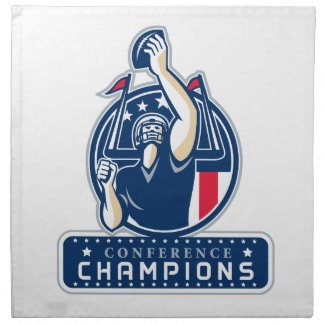 Football Conference Champions New England Retro Napkin