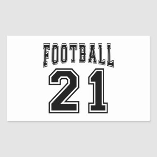 Football Crazy 21 Birthday Designs Rectangle Sticker