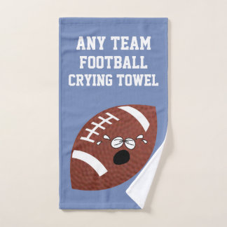 Football Crying Towel Your Team and Colour