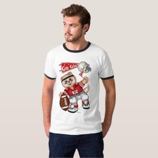 FOOTBALL CUTE CAT Men's Basic Ringer T-Shirt 2