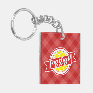 Football Dad Keyring Double-Sided Square Acrylic Key Ring