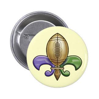 Football de Lis III Pinback Button