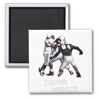 football defense fridge magnet