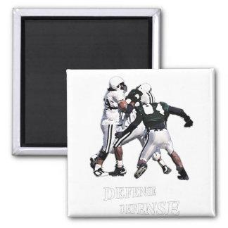 football defense square magnet
