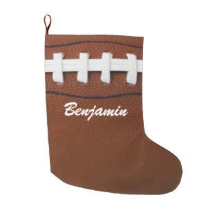 Football Design Large Christmas Stocking