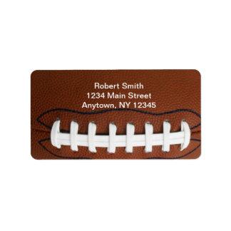 Football Design Return Address Labels