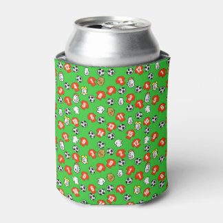 Football Design with shirts in red Can Cooler