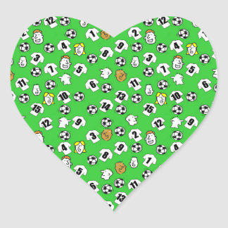 Football Design with White Shirts Heart Sticker