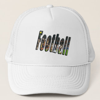 Football Dimensional Logo, Trucker Hat