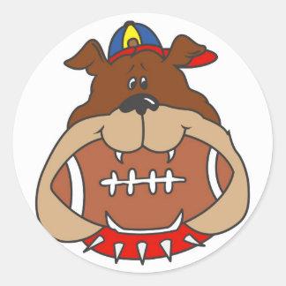 football dog round sticker
