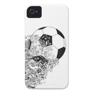 Football Doodle-art phonecase iPhone 4 Covers