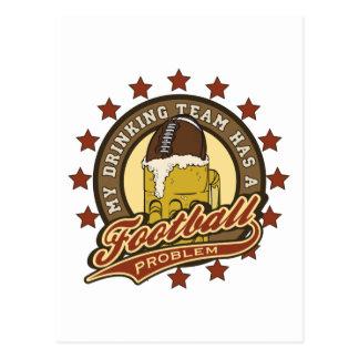 Football Drinking Team Postcards
