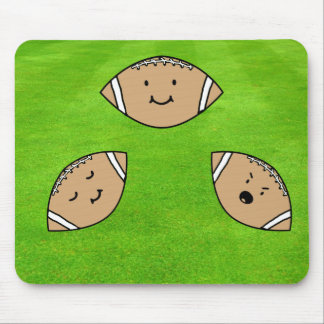 Football Emoticons Mouse Pad