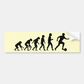 Football Evolution Bumper Sticker