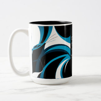 Football Fan Inspired Two-Tone Coffee Mug