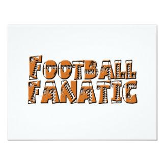 "Football Fanatic 4.25"" X 5.5"" Invitation Card"