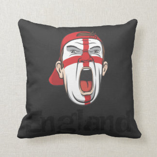 football fans england flag throw pillow