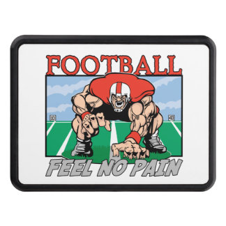 Football Feel No Pain Tow Hitch Cover