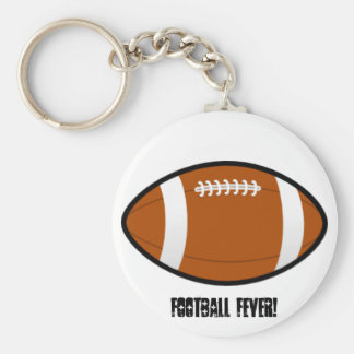 Football Fever! Basic Round Button Key Ring