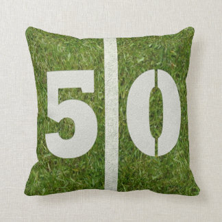 Football Field 50th Birthday Yard Cushion
