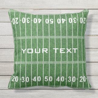 Football Field Design OUTDOOR pillow