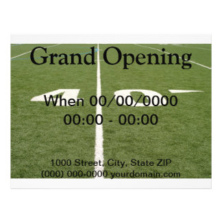 Football Field Forty Full Color Flyer