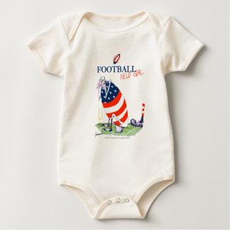 Football field goal, tony fernandes baby bodysuit