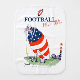 Football field goal, tony fernandes burp cloth