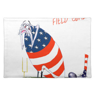 Football field goal, tony fernandes placemat