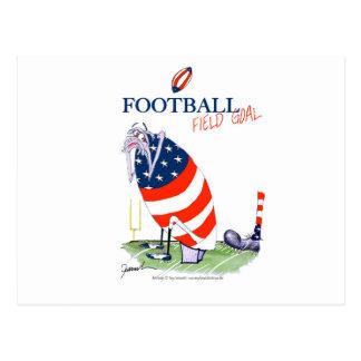 Football field goal, tony fernandes postcard