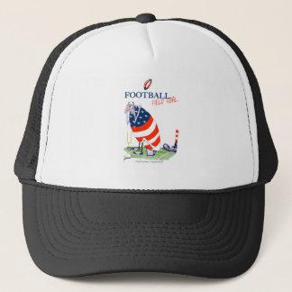 Football field goal, tony fernandes trucker hat